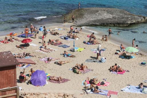 Platges de Comte en el mes de julio de 2020.