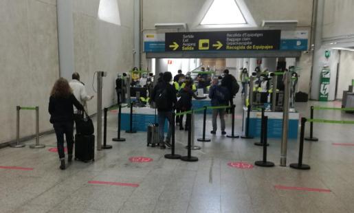 Imagen del interior del aeropuerto de Palma.