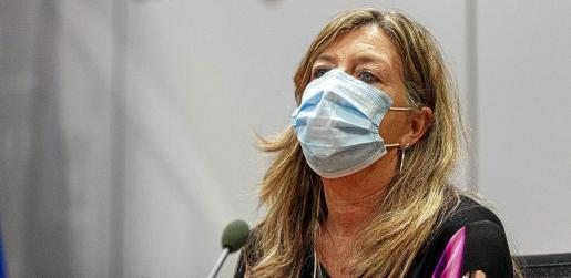 La consellera de Salud, Patricia Gómez, durante la rueda de prensa del jueves.