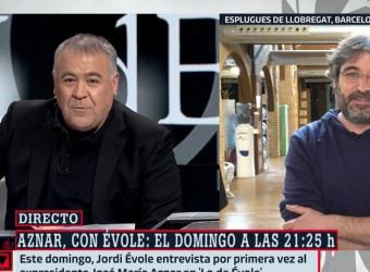 Ferreras responde a un «recadito» de Aznar en 'Lo de Évole'