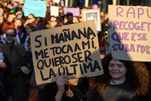 Manifestación en Ibiza por el 8M de 2020.