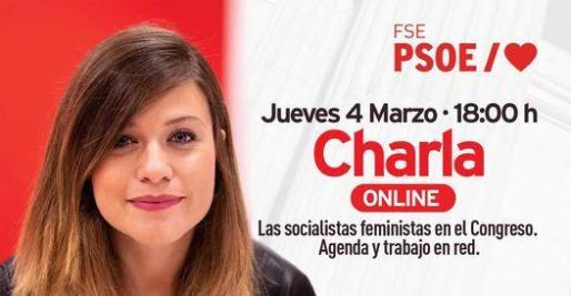 Charla 'online' abierta a toda la militancia con la diputada nacional y portavoz de Igualdad del Grupo Parlamentario Socialista, Laura Berja.