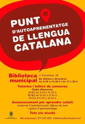 Sant Antoni reactiva el Punt d'Autoaprenentatge de Llengua Catalana en la Biblioteca Municipal.