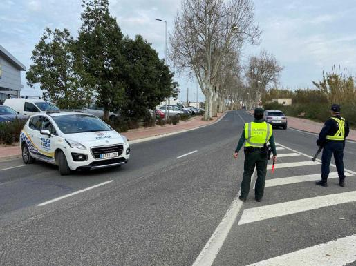 Control de la Policía Local de Sant Antoni.