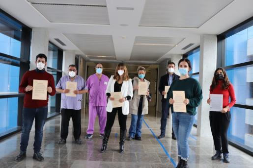 Acto de toma de posesión de plazas fijas de médicos de Urgencias tras superar el concurso-oposición del Servicio de Salud.