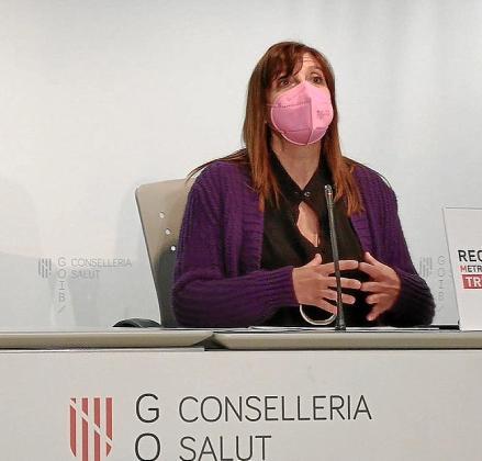 Maria Antònia Font, durante la rueda de prensa.