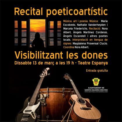 Fusión de música, arte y poesía para reconocer a las mujeres creativas y luchadoras.