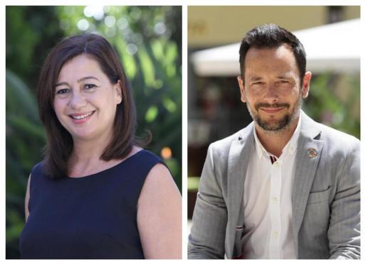 De izquierda a derecha: La presidenta del Govern balear, Francina Armengol, y el alcalde del Ayuntamiento de Ibiza, Rafa Ruiz.