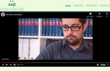 Jordi Marí Tur en un vídeo promocional de la web de la empresa.