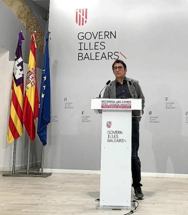 Iago Negueruela, durante la rueda de prensa.