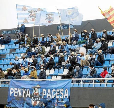 Una imagen de un sector de la grada de Can Misses tomada durante el último partido de la UD Ibiza con público, el 10 de enero.