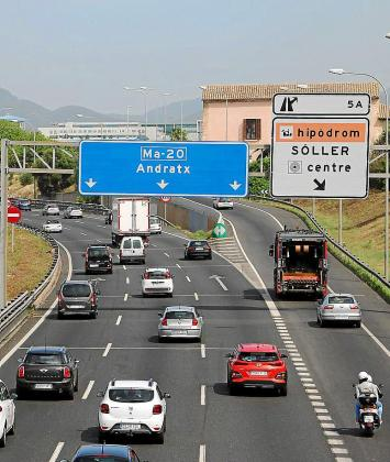 Imagen de la vía de cintura de Palma por la que ya no podrán circular automóviles ni furgonetas diésel a partir del año 2025.