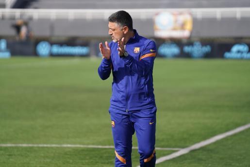 García Pimienta alaba una acción del Barcelona B.