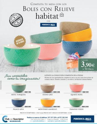 Boles de edición limitada de Habitat.