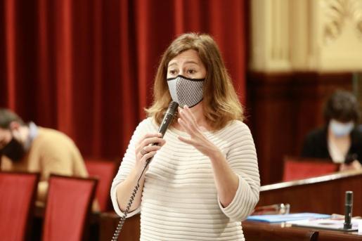 Armengol, este martes en el Parlament.