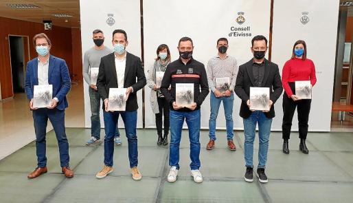 Una imagen del acto de presentación del libro 'Camino Abierto', ayer en el Consell d'Eivissa.