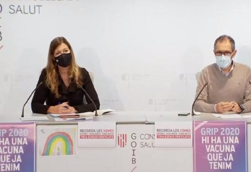 Patricia Gómez y Javier Arranz, durante una rueda de prensa.