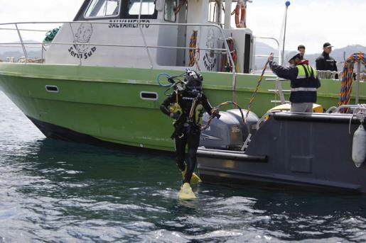 Este lunes comenzaron los trabajos en la Bahía de Portmany.