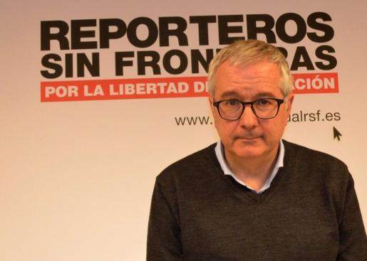 Archivo - El presidente de Reporteros Sin Fronteras, Alfonso Armada - RSF-ESPAÑA - Archivo