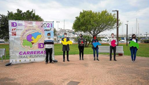 Una imagen del acto de presentación de la Liga de Trail Running de Ibiza, ayer en el Passeig Joan Carles I.