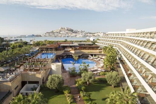 Recreación del Ibiza Gran Hotel que abrirá dentro de aproximadamente un mes.