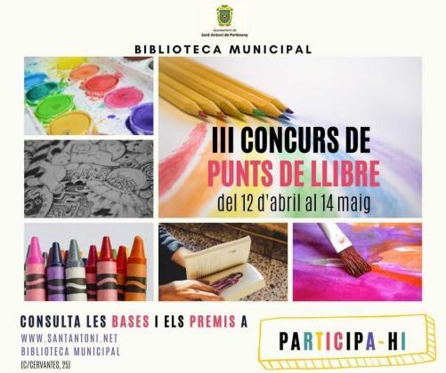 Sant Antoni celebra Sant Jordi con su concurso de puntos de libro, puestos de libros de segunda mano y cuentacuentos.