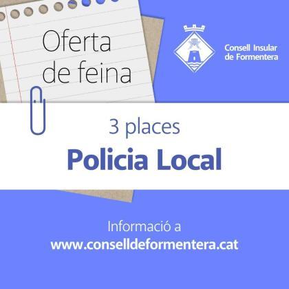 Formentera abre la convocatoria de oferta de tres nuevas plazas de Policía Local.