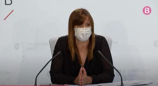 La responsable de Salut Pública del Govern, durante la rueda de prensa.