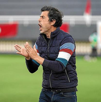 Alberto Gallego, técnico del CD Ibiza.