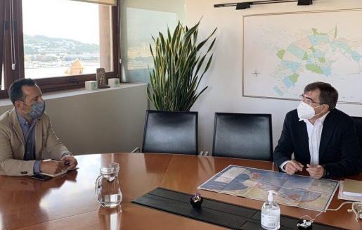 Rafa Ruiz y Francesc Antich, reunidos en Ibiza el pasado mes de octubre.