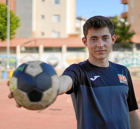 Jordi Marí antes de comenzar su entrenamiento en el IES Sa Colomina.