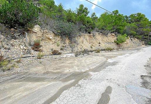 Imagen del estado en el que estaba antes la carretera.
