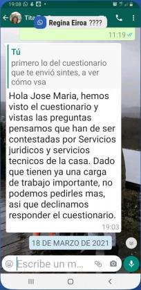Respuesta oficial al requerimiento de Periódico de Ibiza y Formentera.