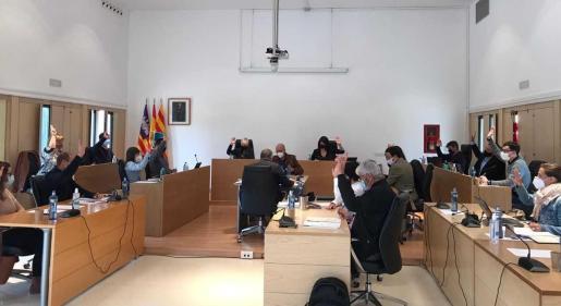Un momento del Pleno del Consell de Formentera celebrado ayer.