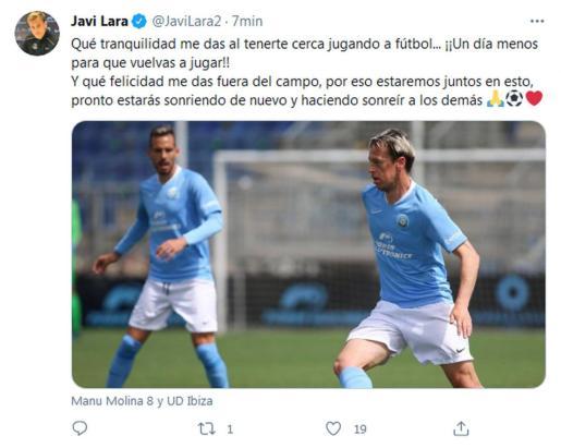 Tuit de Javi Lara.