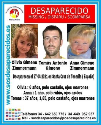 Cartel de alerta difundido por SOS Desaparecidos.