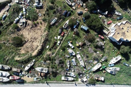 Imagen aérea del estado de la finca.