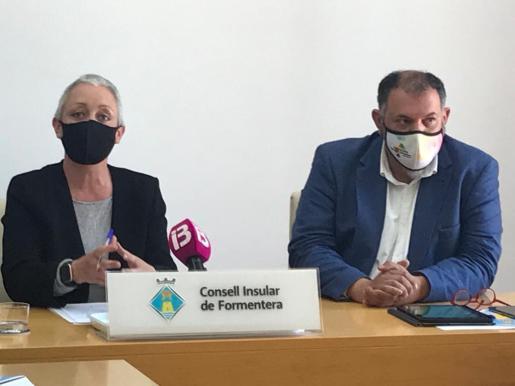 Imagen de la rueda de prensa de este viernes para informar de las ayudas empresariales del Govern a Formentera.
