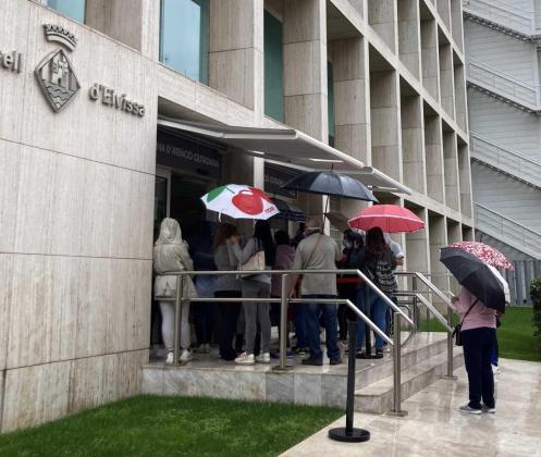 Imagen de este lunes de la Oficina de Atención a la Ciudadanía del Consell de Ibiza.