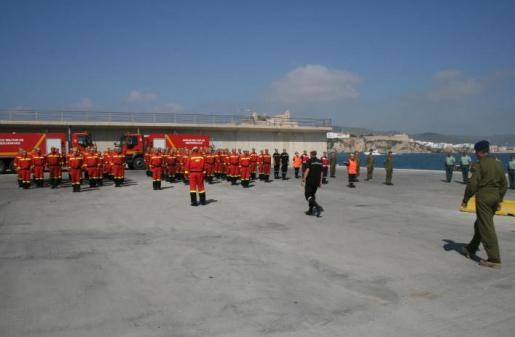 Imagen de archivo de efectivos de la UME en Ibiza.