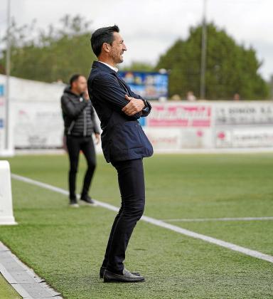 Raúl Casañ, en un momento del partido entre la Peña Deportiva y el L'Hopistalet.