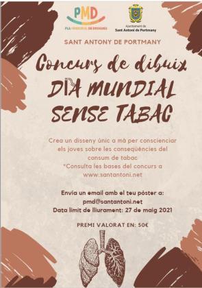 Sant Antoni convoca el concurso de dibujos 'Esfuma't' con motivo del Día Mundial sin Tabaco.