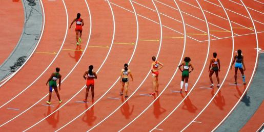 Imagen de una prueba de atletismo.