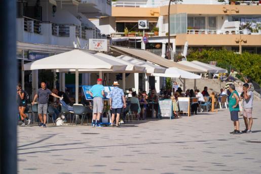 Una terraza de Ibiza, el pasado fin de semana.