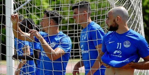 La UD Ibiza permaneció desde el jueves en Elvas, Portugal, realizando un ministage de preparación de cara al playoff que arranca este domingo.