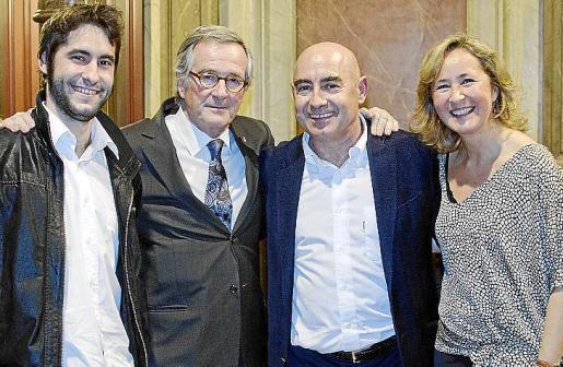 Joan Bennàssar (hijo), Xavier Trias, Joan Bennàssar y Cristina Escape.