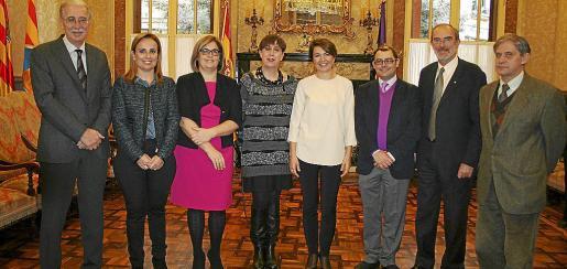 Pedro Comas, Mabel Cabrer, Eulalia Llufriu, Joana Barceló, Margarita Durán, Cosme Bonet, Antonio Diéguez y Joan Riera.