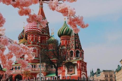 Una de las postales más conocidas de Moscú, la catedral de San Basilio.