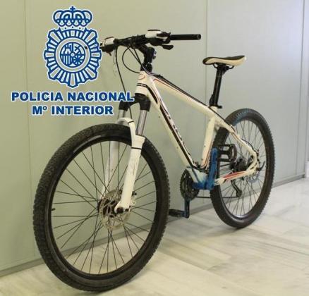Imagen de la bicicleta recuperada.
