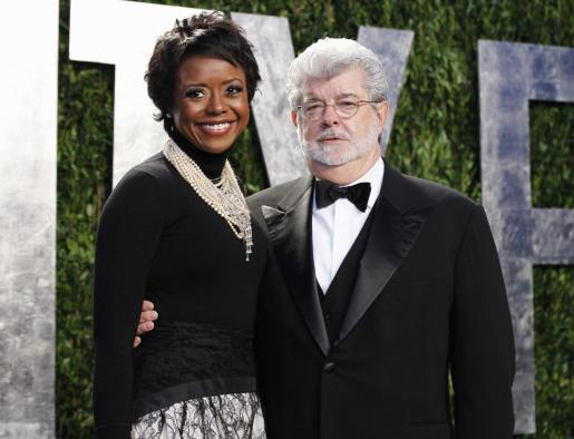 George Lucas y su futura mujer, Mellody Hobson.